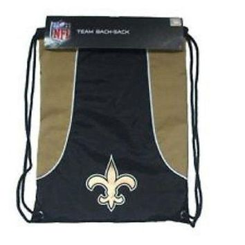 NFL New Orleans Saints Back Sack Draw-String Sling Bag Backpack Back Pack NEW