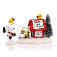 Peanuts Snoopy's Game Night Christmas Figurine