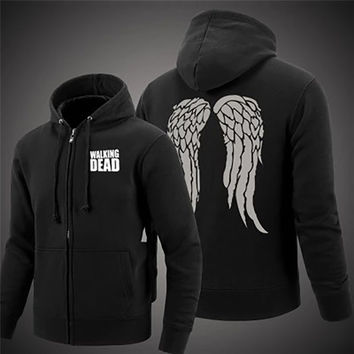 The Walking Dead Daryl Dixon Wings Fleece Cotton Hoodies