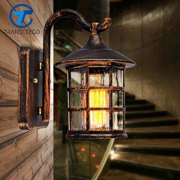Country Style Outdoor Wall Sconce Lamp