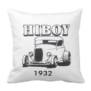 Ford 1932 highboy roadster throw pillow