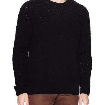 French Connection Men's Textured Sweater - Black -