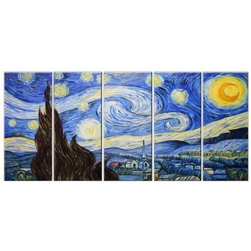 Starry Night Canvas Wall Art Oil Painting