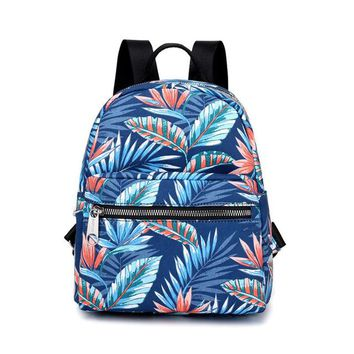School Backpack trendy YsinoBear Floral Canvas Backpack Female Leaves Flower Printed School Bag For Teenage Girls Laptop Rucksack Women Travel Backpack AT_54_4