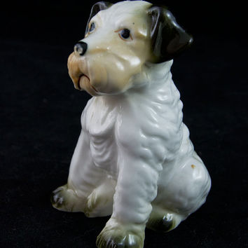 TIbetan Terrier Benji Dog Figurine Dog Figurine Mid Century Japan Collectible