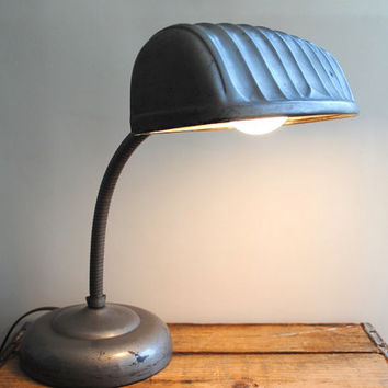 Vintage Gooseneck Lamp - Mid Century Modern Office Desk Lamp