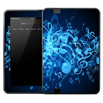 Neon Blue Notes Skin for the Amazon Kindle
