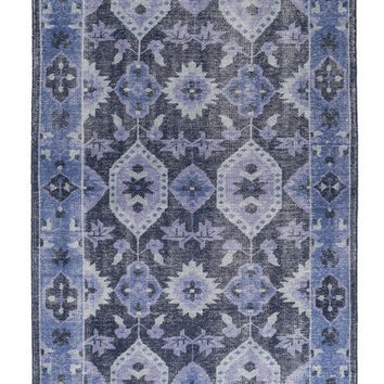 Sahara Cobalt Blue Over Dyed Rug