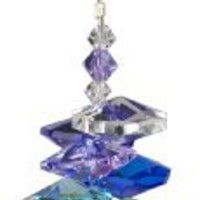Woodstock Rainbow Makers Crystal Cascade Suncatcher, Genuine Austrian Ball Crystal, 9-Inch Long
