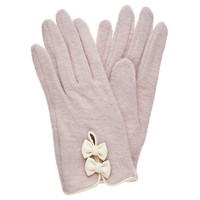Valentina Bow Felt Gloves - Forever New