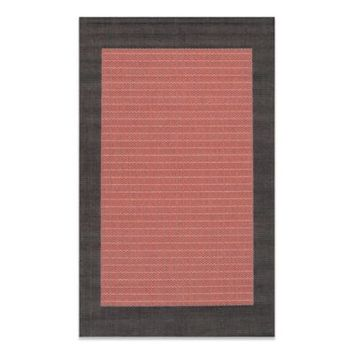 Couristan® Checkered Field Rug in Terracotta/Black
