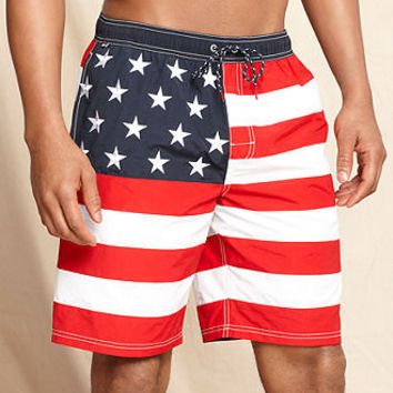 Tommy Hilfiger Swimwear, Stars and Stripes Swim Trunks - Swimwear - Men - Macy's