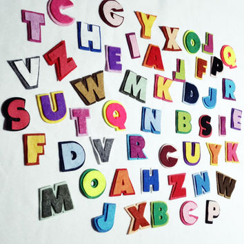 "Felt Capital  Shadows Letters - Great for Learning-1.1/2"" - Felt Die Cut Letter"