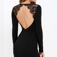 Tallest Tower Black Lace Bodycon Dress