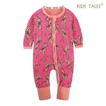 Spring Autumn Cute Baby Clothes for Sleeping Pajamas Baby Rompers Cotton Baby Girl Clothes Little Boys Girls Newborn Overalls
