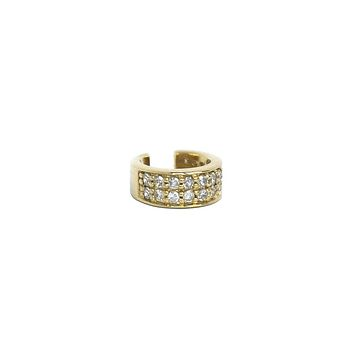 Diamond & Gold Mini-Ear Cuff