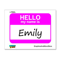 Emily Hello My Name Is Sticker
