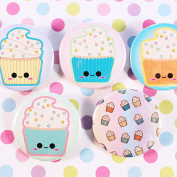 Cupcake Cuties Pins