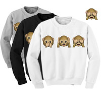 Sueter Feminino 2015 Fall Fashion Women Clothing Cartoon Cute Womens Hoodie Monkeys Adventure Time Sweatshirt Hoddies Femme