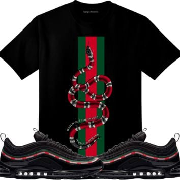 Nike Airmax 97 UNDFTD Sneaker Tees Shirt - WATCH OUT SNAKES