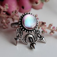 Shop Dixi Boho Ring | Vena Amoris Pink Pearl Boho Ring