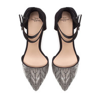 VAMP SHOE WITH ANKLE STRAPS - Shoes - Woman - ZARA United States