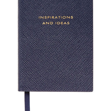 Smythson - Panama Inspirations And Ideas textured-leather notebook