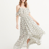 Womens Cold-Shoulder Maxi Dress | Womens Dresses & Rompers | Abercrombie.ca