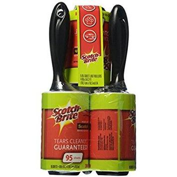 Scotch-Brite Lint Roller Combo Pack, 5-Rollers, 95-Sheets
