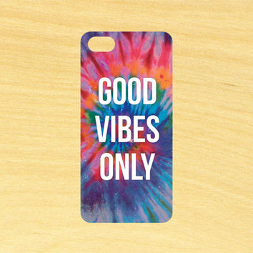 Good Vibes Only iPhone 4/4S 5/5C 6/6+ and Samsung Galaxy S3/S4/S5 Phone Case