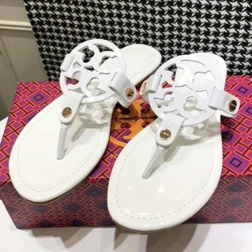 1d52cd3bed5 Tory Burch New fashion solid color leopard print slippers shoes sandals  women White