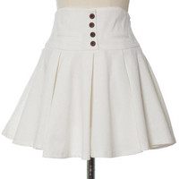 Ark & Co - Flippy White Skirt