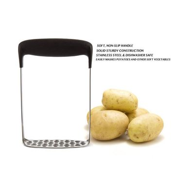 Stainless Steel Potato Masher Plate Smooth Mashed Potatoes Fruit Vegetable Tools Press Crusher Best Potato Ricer with Handle