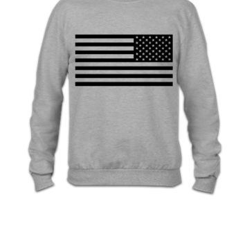 American Flag Tactical Subdued - Crewneck Sweatshirt