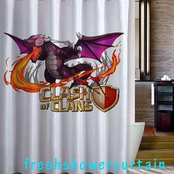 dragon with logo Shower Curtain