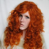 SALE Merida Brave wig . Disney Princess inspired Brave . Auburn . Red wig . Curly Ginger Thick Cosplay wig . Natural Sexy
