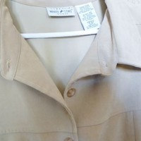 WHITE STAG Brushed Shirt size 20W  Color:  Cappuccino (Tan)
