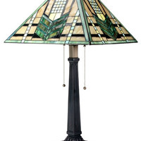 Green Arrow Mission Stained Glass Lamp 26H - T83300