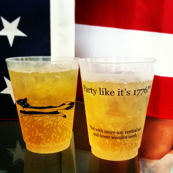 Party Like It's 1776 Red Blooded American Cups - Set of 11 by Country Club Prep