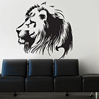 Wall Decal Vinyl Sticker Lion Tiger Panter Leopard Animal Bedroom Dorm B458
