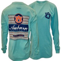 Ikat Auburn Diamond Patterned Long Sleeve by Tiger Rags