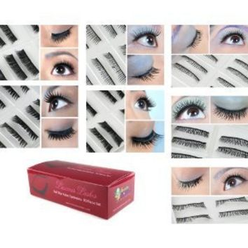 Bundle Monster 70 Pairs Fake / False Eyelashes - 7 Different Styles - 10 Pairs Each Variety Pack Set
