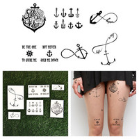 Anchor Set - Temporary Tattoo (Set of 6)