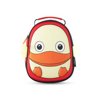 Toddler Backpack class i-baby 3D Animal Design Kids Backpack Waterproof Schools Baby Toddler Kindergarden Lunch Box Carry Bag, Ages 2+, Duck,2 Colors AT_50_3
