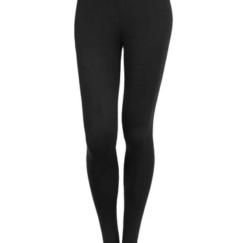 LE3NO Womens Stretchy Solid Leggings