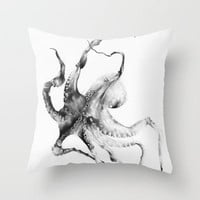 Octopus Throw Pillow by Alexis Marcou | Society6