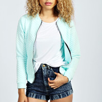 Sophia Quilted Bomber Jacket