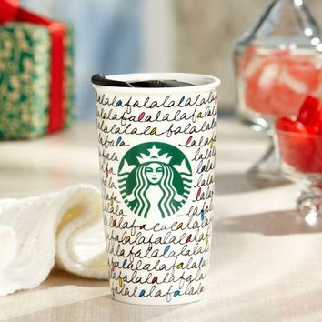 Starbucks Holiday 2011 Ceramic Travel Tumbler 12 oz.