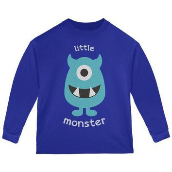 PEAPGQ9 Halloween Little Monster Toddler Long Sleeve T Shirt