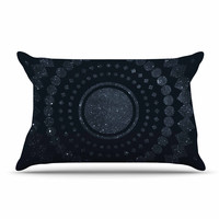 "Matt Eklund ""Lunar Confetti"" Geometric Blue Pillow Case"